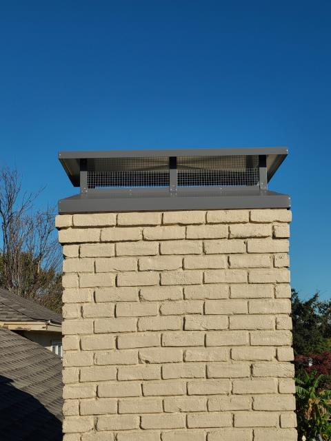 Richardson, TX - Crown Repair/ #1 Style Chimney Cap