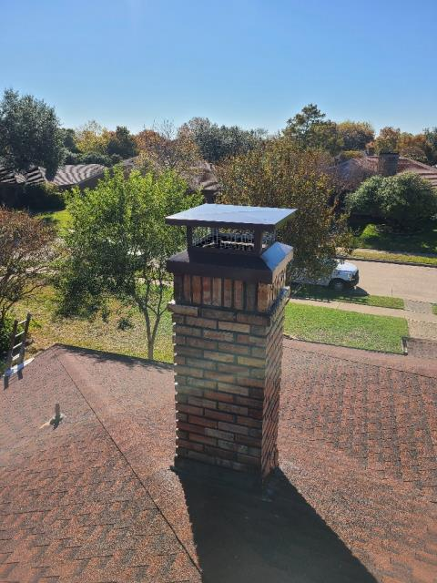 Richardson, TX - Mortar Crown Overlay/Custom Chimney Cap