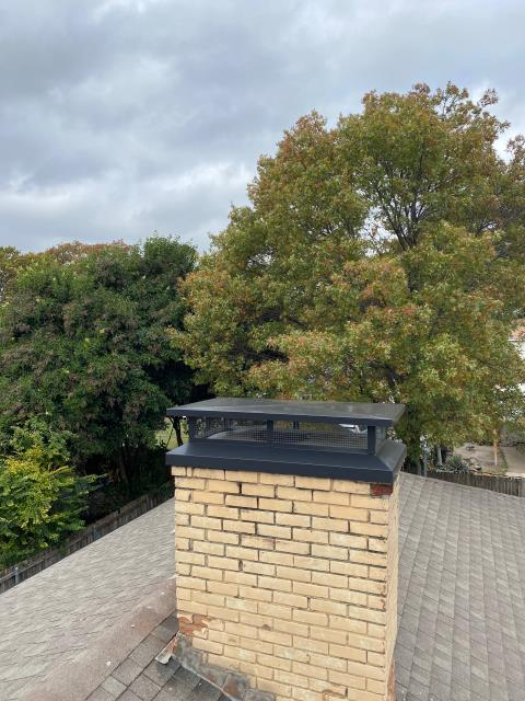 Richardson, TX - #1 Style Chimney Cap/Mortar Crown Overlay/Gas Log Install