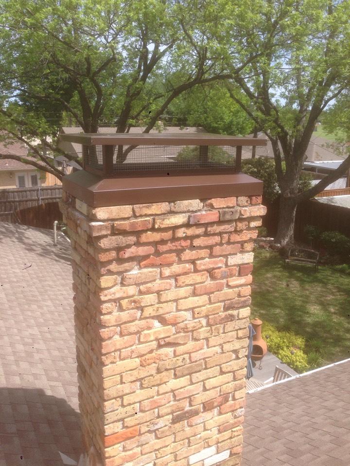 Richardson, TX - Chimney cap Install