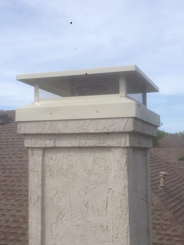 Garland, TX - Chimney cap install