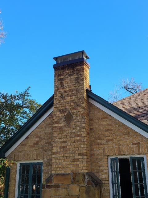 Dallas, TX - Gas Log Install / #1 Style Chimney Cap