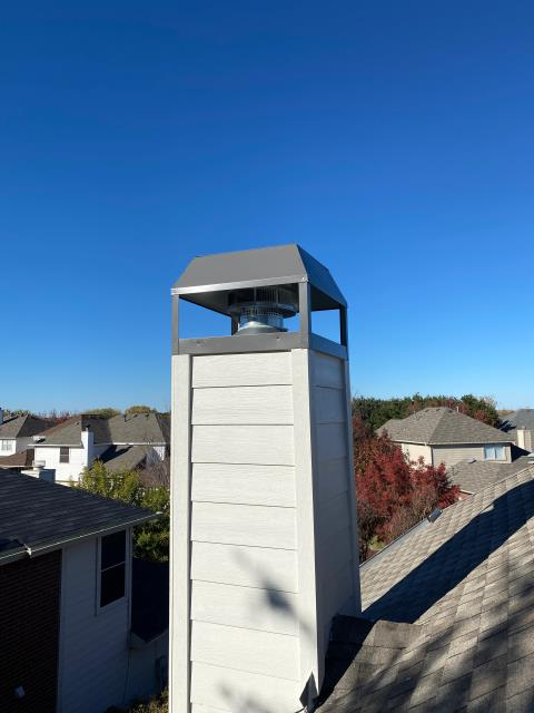 The Colony, TX - Trim Board Replacement/Stevenson Chimney Cap
