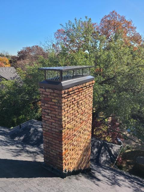 Dallas, TX - Tuck Point/ #1 Style Chimney Cap