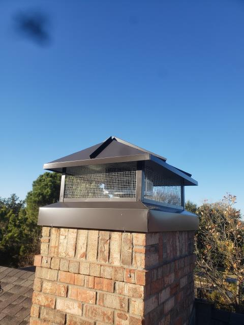Trophy Club, TX - #2 Style chimney Cap in Dark Bronze