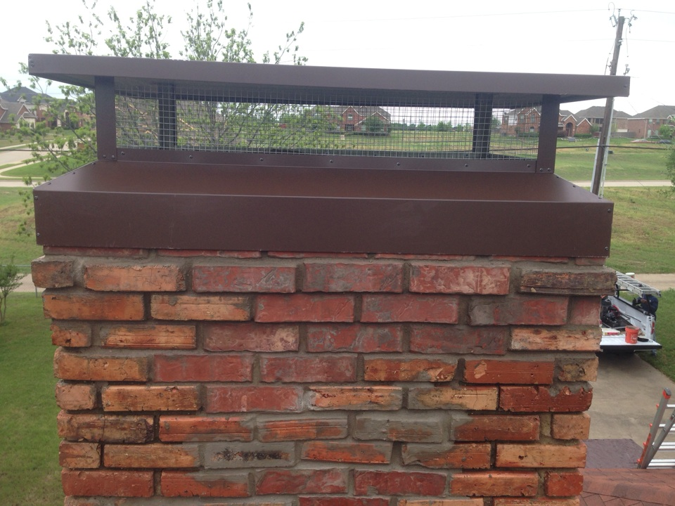 DeSoto, TX - Brick work and chimney cap install