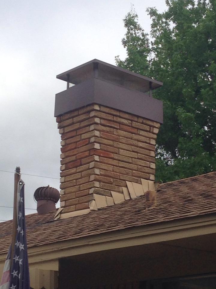 Garland, TX - Chimney cap installed