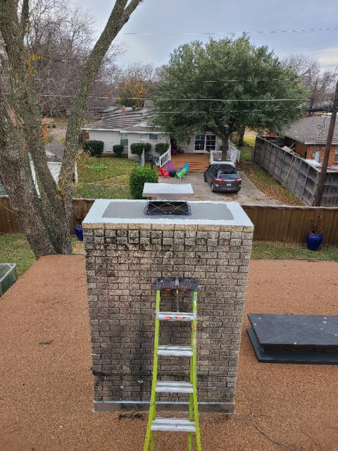 Richardson, TX - Mortar Crown Repair/Top Mounted Damper