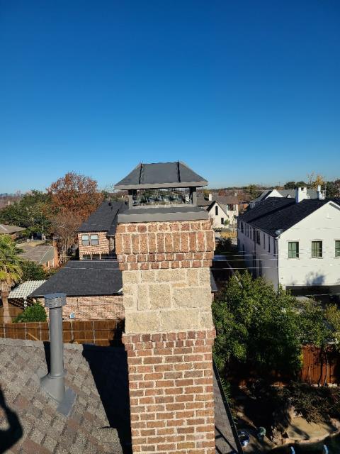 Dallas, TX - Mortar Crown Overlay/#2 Style Chimney Cap