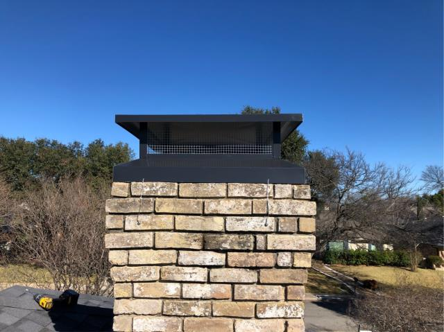 Dallas, TX - Mortar Crown Overlay/Tuck Point/#1 Style Chimney Cap
