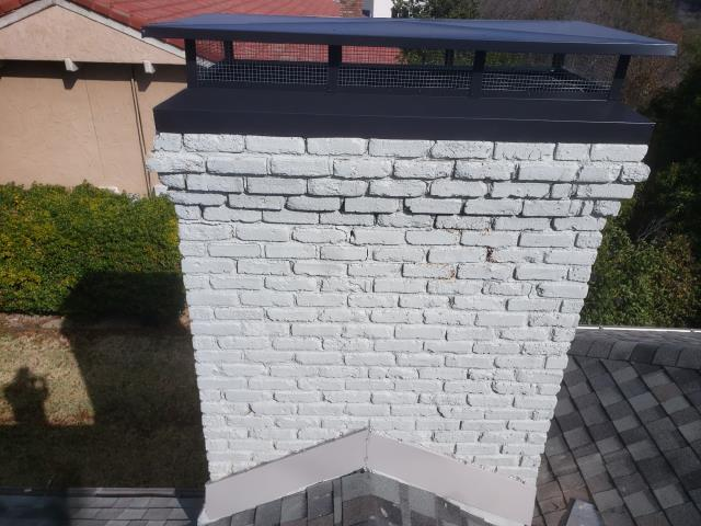 Fort Worth, TX - Mortar Crown Rebuild/#1 Style Chimney Cap