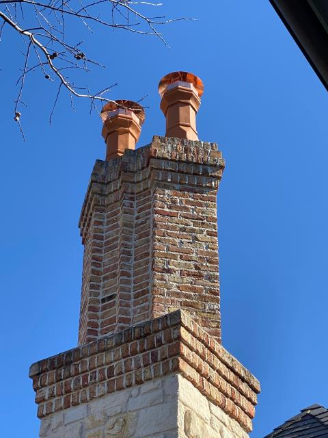 Frisco, TX - Custom Copper Pot Top Chimney Caps