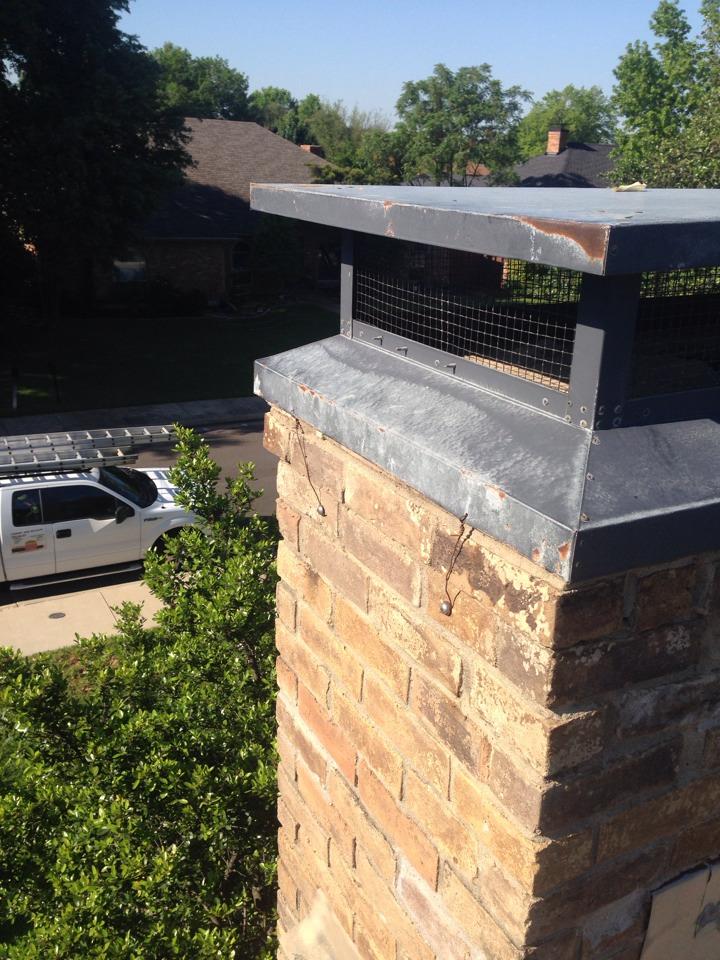 Richardson, TX - Reinstalled old chimney cap