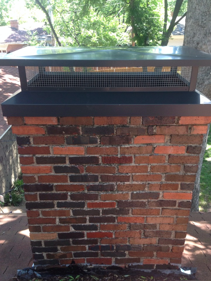 Dallas, TX - Raccoon eviction, chimney cap, water proofing on brick