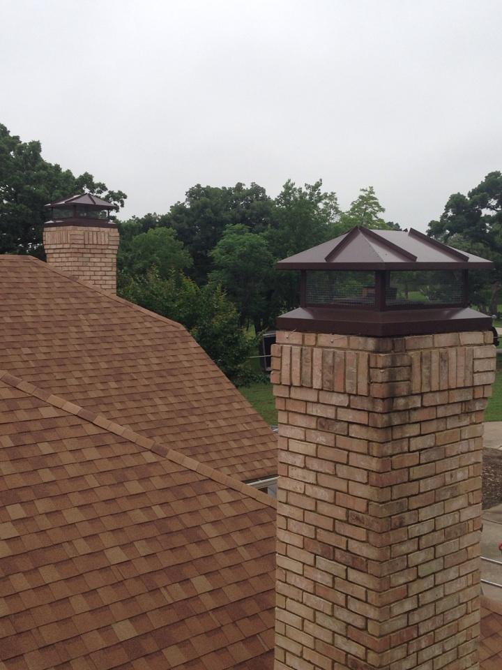 Southlake, TX - Two beautiful chimney caps