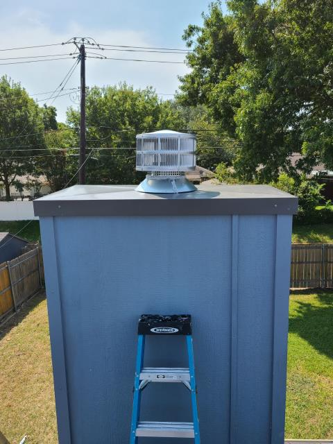 Trim Board Replacement/ Chimney Pan and Spark Arrestor