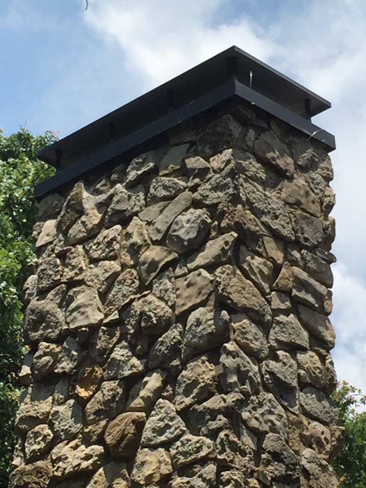 Colleyville, TX - Chimney mortar work and cap install