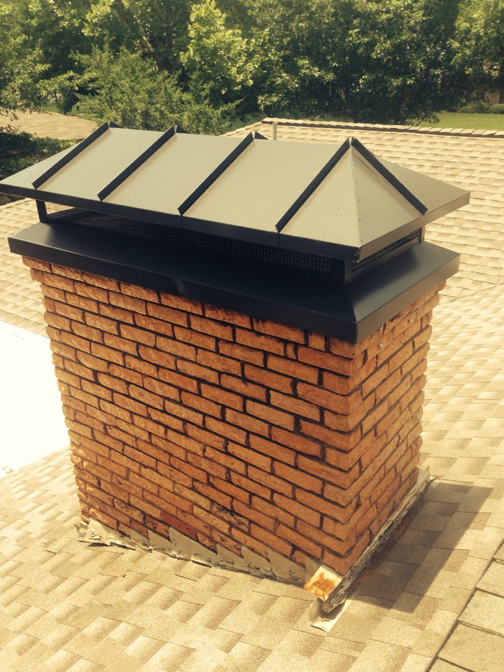 Grand Prairie, TX - Leak fixed, chimney cap installed