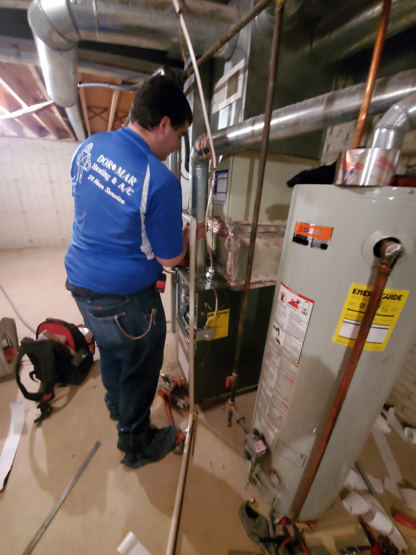 Dublin, OH - Installing a goodman furnace