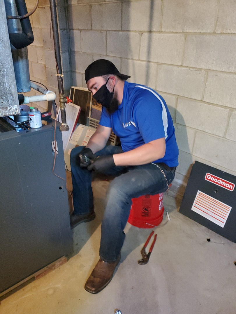 Reynoldsburg, OH - Installing Goodman furnace