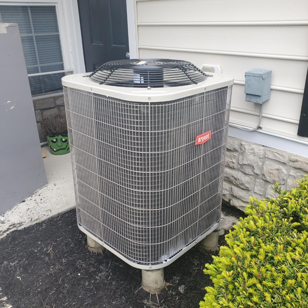 New Albany, OH - Replaced heat pump Bryant.