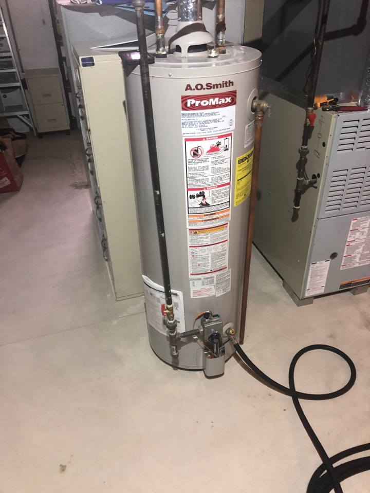 Groveport, OH - Servicing hot water tank in Groveport Ohio
