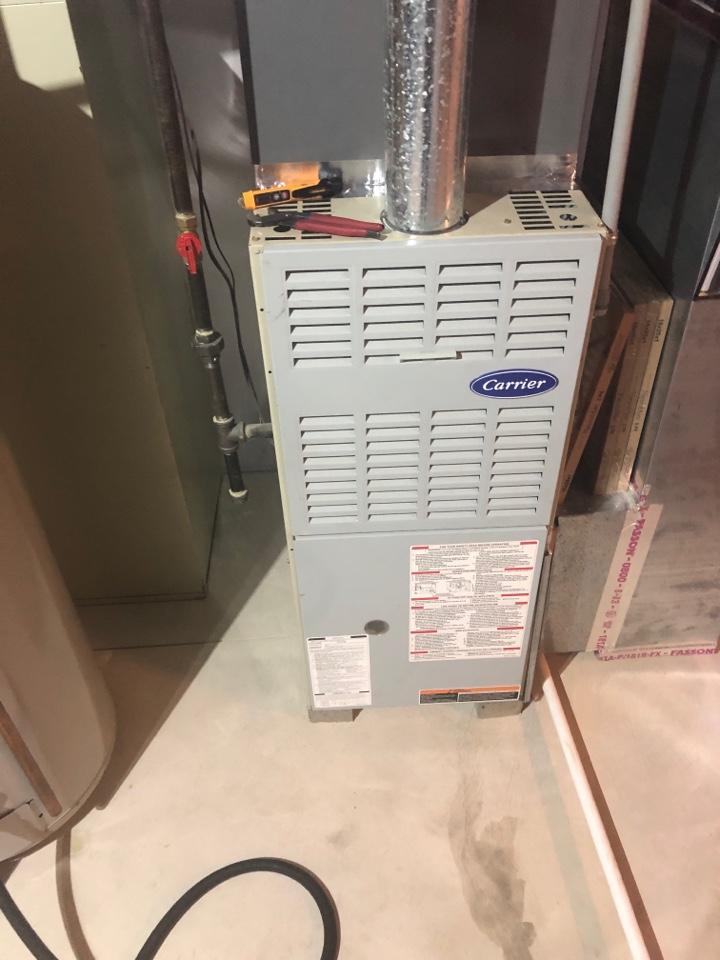Groveport, OH - Servicing carrier furnace in Groveport Ohio