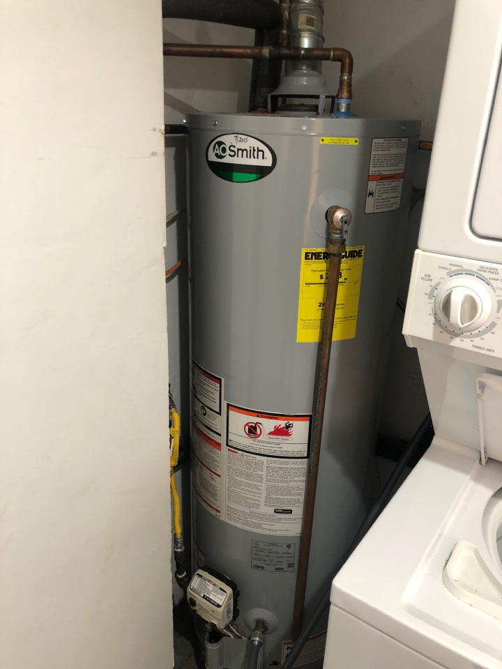 Millersport, OH - Doing yearly maintenance and flush on a A.O Smith gas water heater