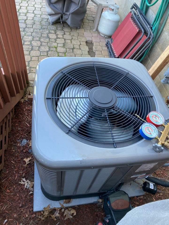Pataskala, OH - Doing routine maintenance on a rheem air conditioner heater Edna Ohio