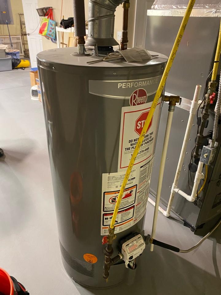 Pataskala, OH - Flushing a rheem hot water tank in pataskala Ohio
