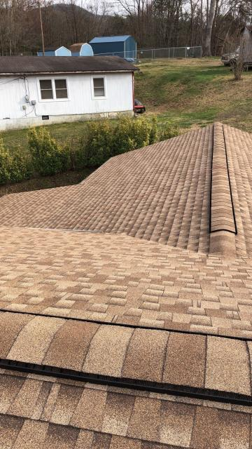 Swannanoa, NC - Another completed Golden Pledge installation in Swannanoa, NC from Balken Roofing, Asheville's premier roofing company.