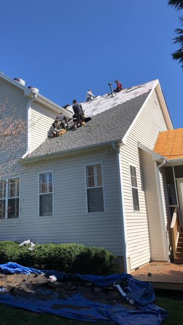 Asheville, NC - Progress photo of a GAF Golden Pledge installation by Balken Roofing in South Asheville NC