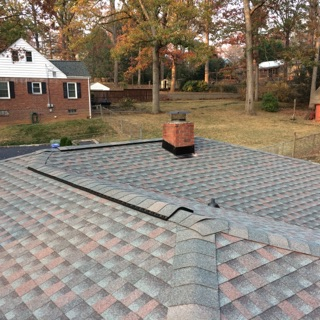 Asheville, NC - New shingle installation on a beautiful mountain home in GAF Timberline HD - color: Williamsburg Slate!