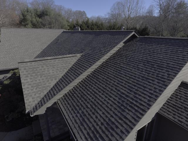 Asheville, NC - New shingle installation complete with GAF Timberline HD shingles, GAF TigerPaw Synthetic underlayment, and the strongest warranty in the industry - the GAF Golden Pledge Lifetime  Warranty!!!