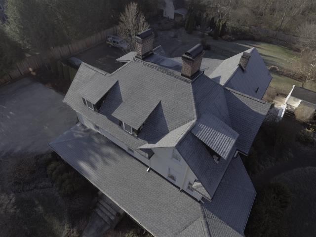 Waynesville, NC - Completed re-decking and new roof with GAF Timberline HD shingles.