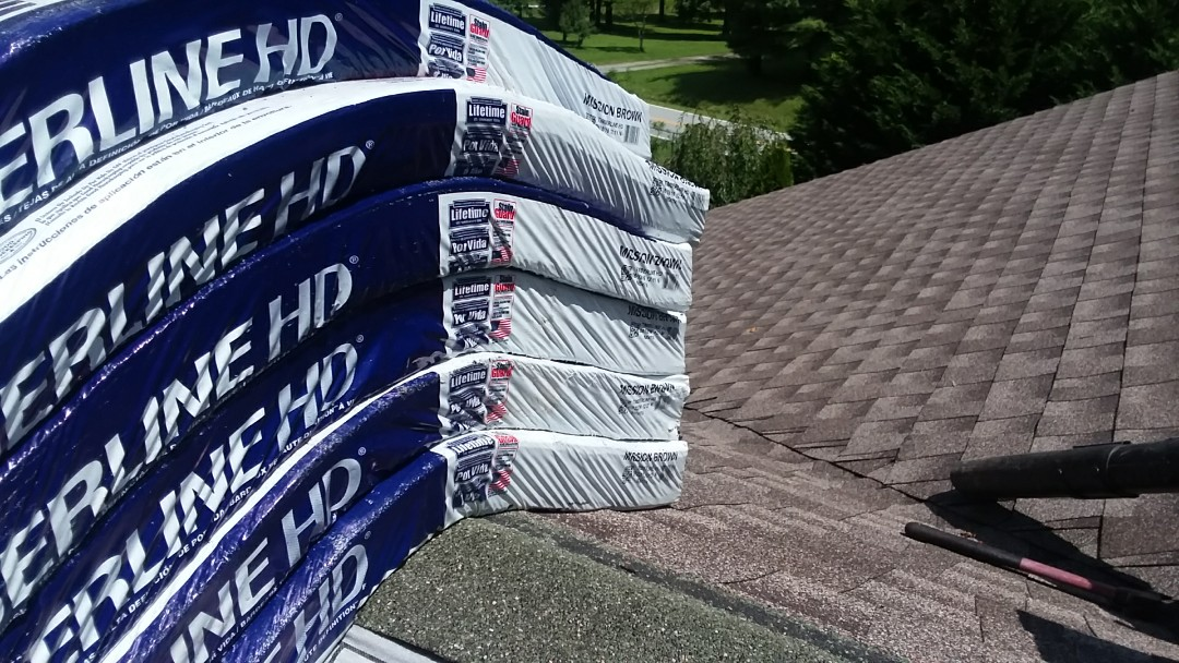 Hendersonville, NC - Finishing up a roof with HAD Timberline HD shingles today