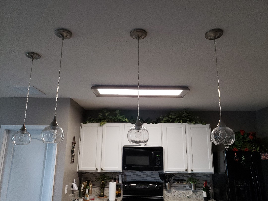 Cut in 4 hanging lights in Lakewood Ranch