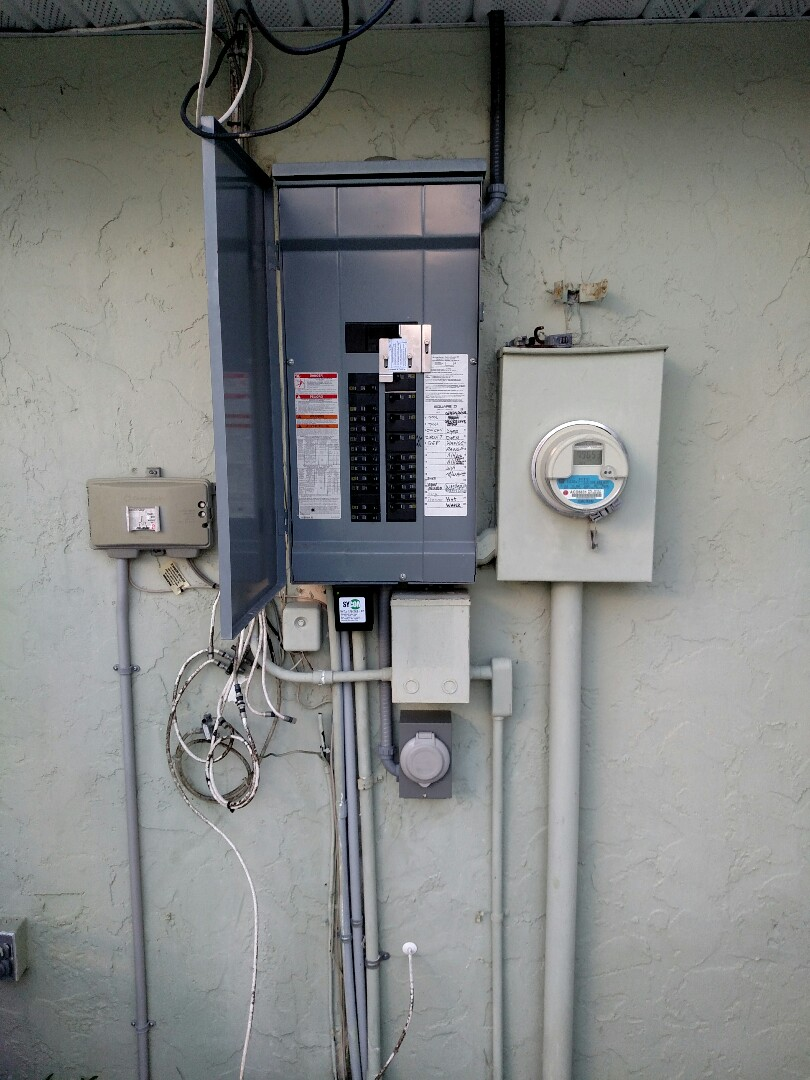 Punta Gorda, FL - Installed 50 amp inlet for generator, and interlock kit for 50 amp 10,000 watt generator.