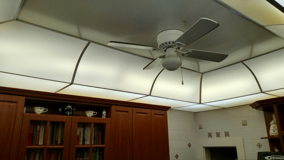 Palmetto, FL - Rewired 8 flourescent fixtures in the kitchen to work with LED tubes. Also replaced a keyless fixture in the guest closet