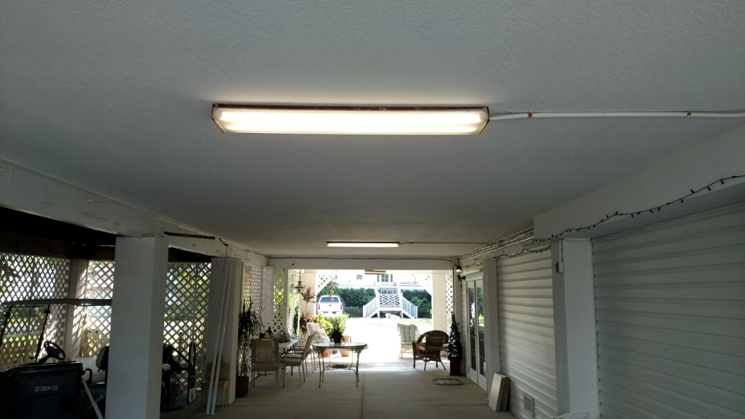 Palmetto, FL - Installed new led tubes in old flourescent fixtures. Also if installled whole house surge protector.