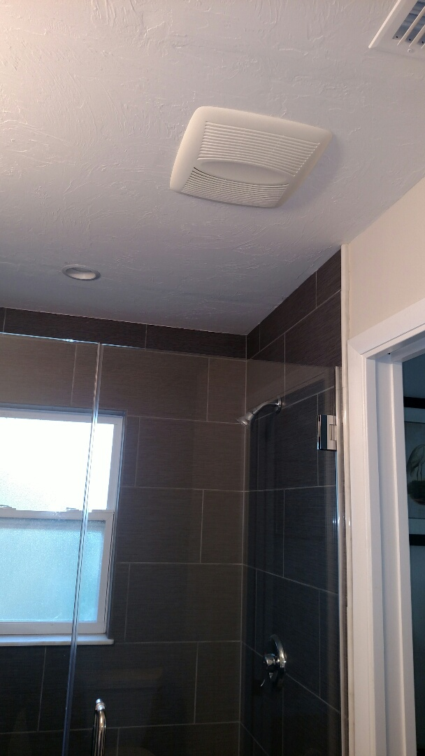 Bradenton, FL - Installed new exhaust fan in m bath room, installed new wiring to bed rooms fans so they now work off switches and Installed a GFI outlet by the electrical panel.  Near me