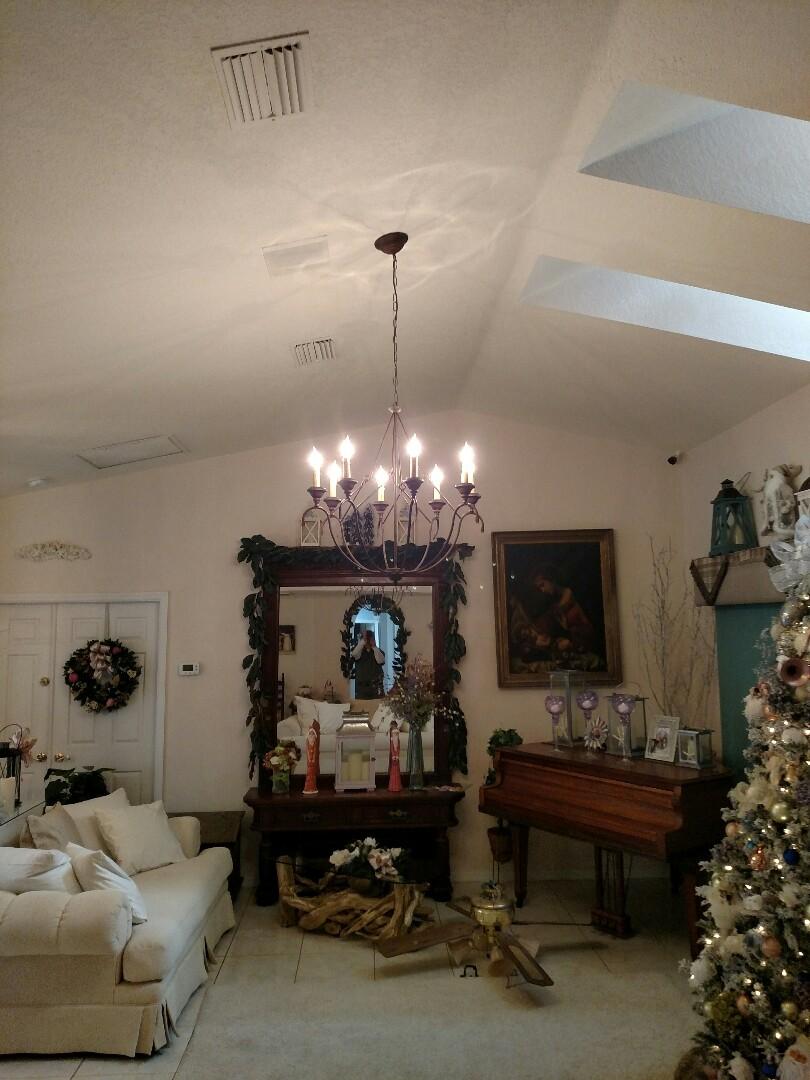 Port Charlotte, FL - Installed customer supplied chandelier
