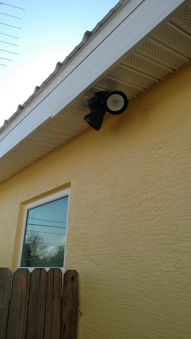 Port Charlotte, FL - Installed new LED motion  flood lights on both front corners of home.    Near me