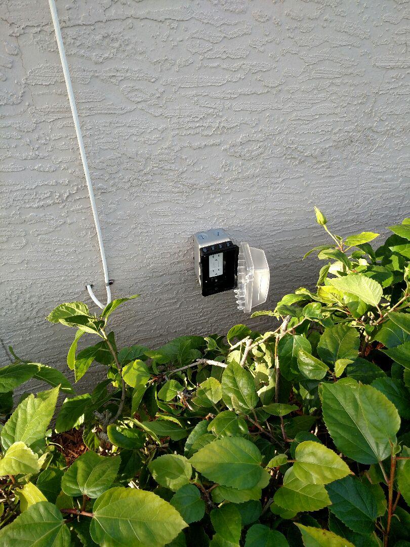 Port Charlotte, FL - Installed new outside outlet and under cabinet light