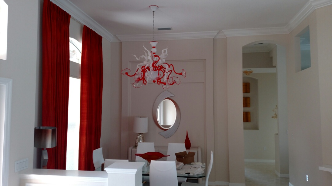 Port Charlotte, FL - Installed several glass Italian chandeliers and Crystal chandeliers throughout the home. Near me