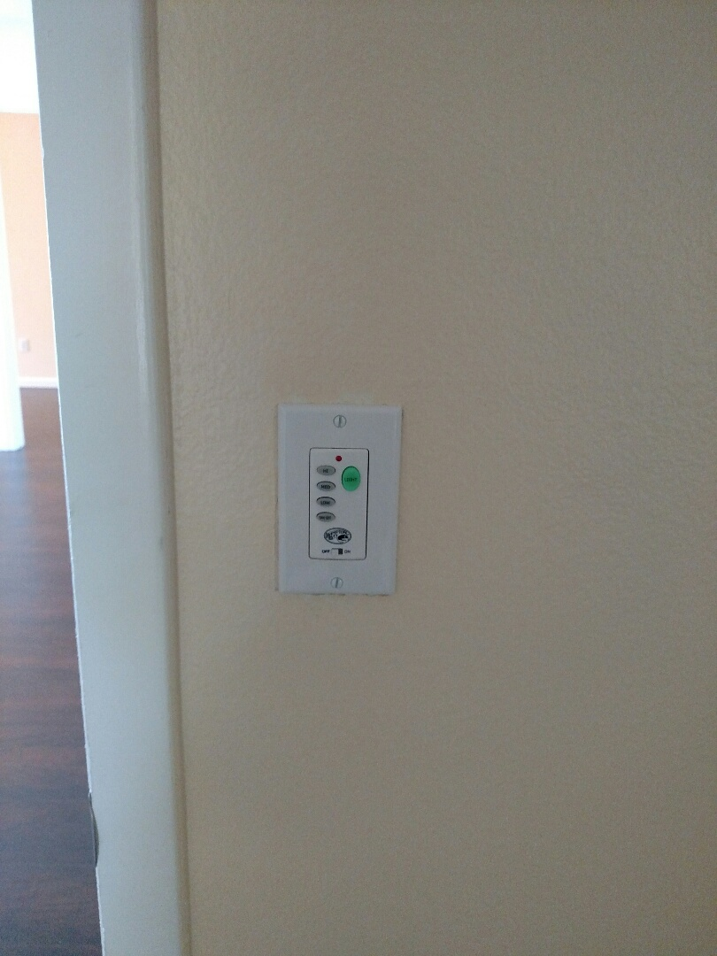 Venice, FL - Installed remote dimmers for ceiling fans and gfi outlets in the kitchen