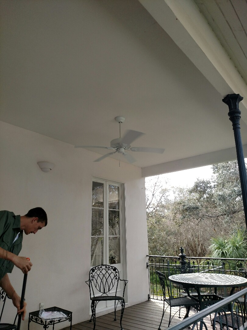 Nokomis, FL - Replaced ceiling fan and Installed new coach light