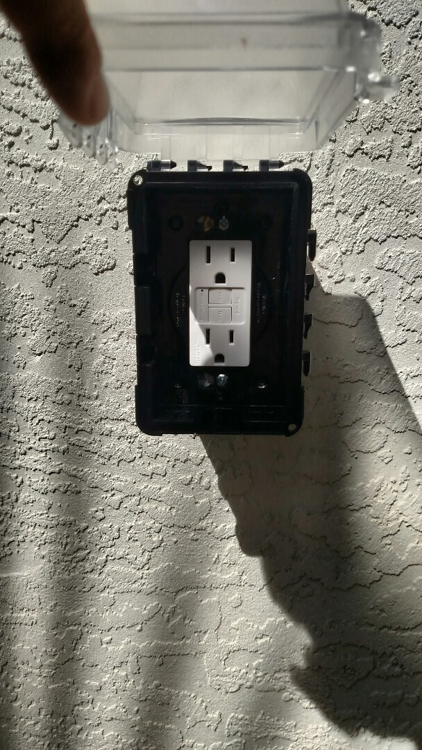 North Port, FL - Installed new gfi outlet by pool equipment.