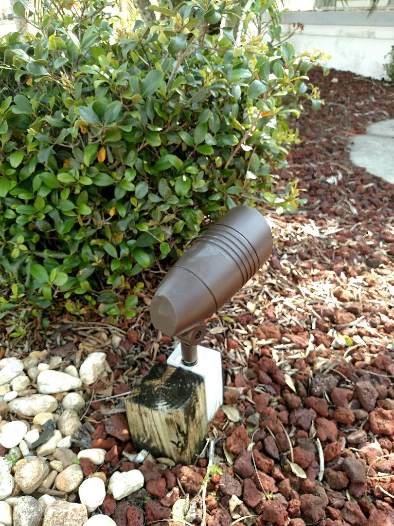 Port Charlotte, FL - Relocated flood light, removed and replaced two LED landscape lights, installed new coach light, installed new timer for coach lights