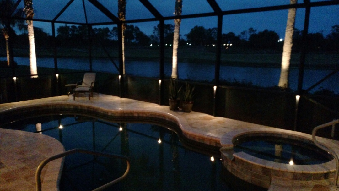 Sarasota, FL - Installled led pool cage lighting